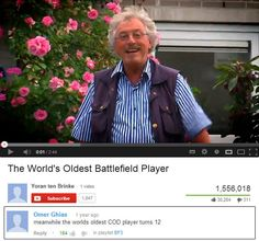 The World's Oldest Battlefield Player http://www.shenhuifu.org/2017/09/15/oldest-battlefield-player/ #Battlefield #VideoGames