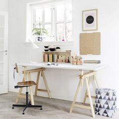 Check Out 25 Chic Scandinavian Home Office Designs. Scandinavian design is extremely popular now, so why not choose this style for your home office decor? Interior Exterior, Home Interior, Interior Architecture, Interior Ideas, Interior Styling, Minimal Architecture, Apartment Interior, Modern Interior, Danish Interior Design