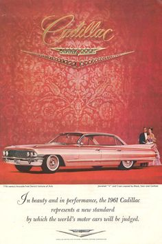 Vintage Cadillac Ad....the history of cars!  - Everett Chevrolet Buick GMC Cadillac http://www.everettchevy.com