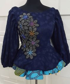 African Dresses For Kids, Latest African Fashion Dresses, African Dresses For Women, African Print Fashion, African Attire, African Inspired Fashion, African Blouses, Ankara Tops Blouses, Ankara Peplum Tops