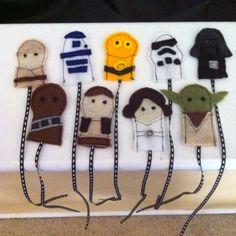 Star wars felt finger puppets for a jedi quiet book