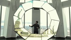 Up on the 100th floor of New York's tallest skyscraper, a ring of screens tells stories about the city in a new way.