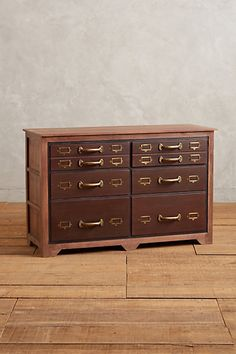 $1199.95 Love the masculine look of this series, but it's some major bucks for MDF. Darn! Six-Drawer Printmakers Dresser #anthropologie