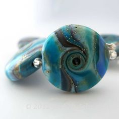 SRA LAmpwork Glass Beads Focal Handmade Catalinaglass  Fantasy Butterfly