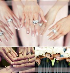 cute gift idea for bridesmaids, a ring they all wear