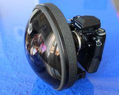 Nikkor 6mm f2.8 AIS fish-eye lens. A really wide fish-eye lens, 220 degrees.