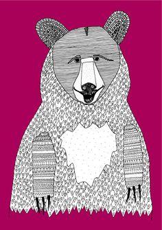 This bear Art Print