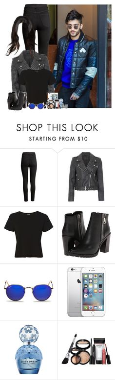 """""""NYC with Zayn"""" by fxrever-isnt-for-everyone ❤ liked on Polyvore featuring H&M, French Connection, RE/DONE, Steve Madden, Ray-Ban, AT&T, Marc Jacobs, Laura Geller and zaynmalik"""