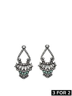 fiorelli-gunmetal-crystal-cluster-statement-earrings 3 For 2 31d33775e0fd