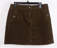 NWT J Crew Brown Courdoroy Mini Skirt 10 #JCrew #Unavailable