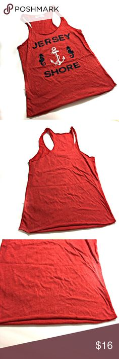 Jersey Shore Red Tank Top from a Boutique Size L This tank is lightweight and incredibly soft.  Purchased at a little boutique down the shore. Tops Tank Tops