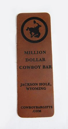 Add your logo today! Leather Bookmark, Jackson Hole, Custom Leather, Wanderlust, Logo, Gifts, Products, Logos, Presents