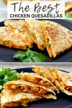 This is the Best Chicken Quesadilla Recipe EVER! It's a unique, quick, easy, delicious dinner recipe that is ready in under 30 minutes and loaded with sneaky veggies! quesadilla chicken recipe mandarinoranges easydinner dinner maindish via Griddle Recipes, Cooking Recipes, Healthy Dinner Recipes, Healthy Meals, Kraft Dinner Recipes, Best Dinner Recipes Ever, Kitchen Recipes, Delicious Dinner Recipes, Quick Easy Meals