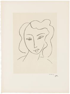 HENRI MATISSE (1869-1954), Etudes pour la Vierge 'Tête voilée': two plates (D. 642, 643) Christie's HENRI MATISSE (1869-1954) Henri Matisse, Number Stamps, Initials, Paper, Artist, Prints, Virgo, Printed, Art Print