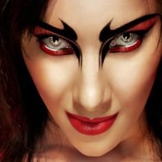 Halloween Eye Makeup Devil