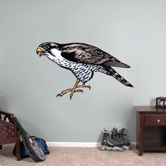 Falcon Mascot Sports Wall Decals, Stickers