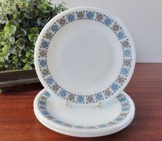 Vintage Pyrex JAJ  Chelsea  3 Side Plates by Hersnhiswarehouse, £6.00