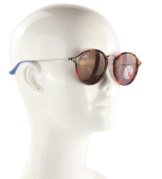 Ray-Ban Multicolor Round Fleck Pop Polarized Sunglasses - Tradesy Polarized Sunglasses, Round Sunglasses, Sunglasses Women, Ray Bans, Pop, Style, Swag, Popular, Round Frame Sunglasses