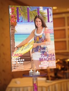Custom Imaged Magazine Cover Centerpiece