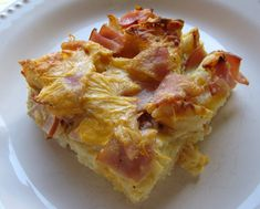 Egg McMuffin Casserole ~ This is one of the best breakfast casseroles that we've made.  It has all the flavors of an Egg McMuffin in casserole form.  This casserole is assembled in minutes the night before and baked when you are ready.
