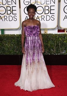 Best Dressed: Lupita Nyong'o in Giambattista Valli Where: The 2015 Golden Globe Awards (Photo: Jim Smeal/BEImages/Rex USA) See more of our best dressed (and worst!) from the Golden Globes