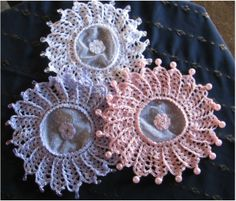 More doilies for glass, jug or sugar bowl covers