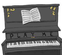 "Digital Print of Hand Drawn Art - ""Play Me Piano"" on Etsy, $20.00"