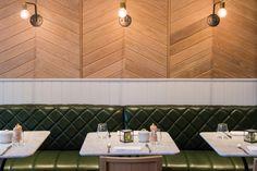 Hotel indigo kensington dexter moren associates interior design bar deli retail #chevron
