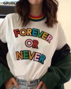 Moda Streetwear, Streetwear Fashion, Cute Tshirts, Cool Shirts, Rainbow Outfit, Personalized T Shirts, Grunge Fashion, Aesthetic Clothes, Stylish Outfits