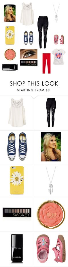 """""""Greece tomorrow morning"""" by bellzellz ❤ liked on Polyvore featuring RVCA, WithChic, Converse, Kate Spade, Lucky Brand, Forever 21, Milani, Chanel and Stride Rite"""