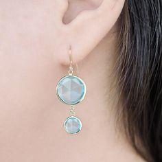 Jewels By Lux Set 14k White Gold Genuine Aquamarine 4 mm Friction Pair Polished Aquamarine Earrings With Backs