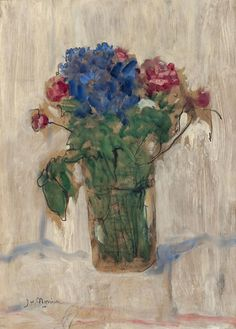 James Wilson Morrice Canadian, Flower Study, c. 1910 oil on panel 33 x cm On long-term loan from The Winnipeg Foundation; Bequest of Kathleen Burrows Lightcap Canadian Painters, Canadian Art, Post Impressionism, Impressionist, Winnipeg Art Gallery, James Wilson, Wonderful Flowers, Botanical Prints, Art World