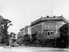 Berlin, Kemperplatz, Lennéstraße Ecke Bellevuestraße, mit dem Wrangelbrunnen am alten Standort, um 1885
