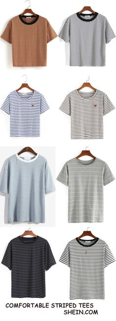 Street Style - Striped Tees from shein.com