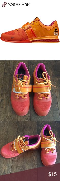 Reebok crossfit lifting shoes Reebok Women's CrossFit Lifter 2.0 in Orange Orange Magenta | Reebok CrossFit Olympic Weightlifting Shoe - size 7.5. A little wear & tear, but only worn a handful of times. Reebok Shoes Athletic Shoes