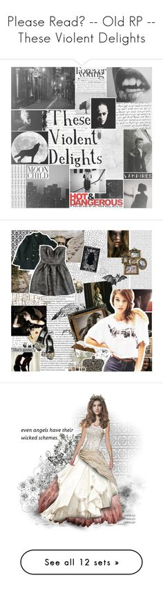 """""""Please Read? -- Old RP -- These Violent Delights"""" by oudroze ❤ liked on Polyvore featuring vampire, pictures, backgrounds, lips, black and white, filler, art, photos, dark and pics"""