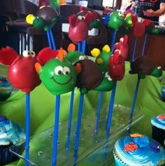 Escape Club, Under the Sea cake pops, children's birthday cakes, Mandy Wrangles, baking