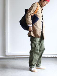 639 : Strato Army Cargo Pants, Men's Fashion, Bomber Jacket, Street Style, Type, Coat, Jackets, Character, Men Styles