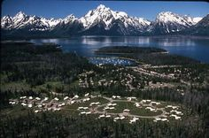 Colter Bay, Wyoming, I lived just to the right of the tent village seen in front.
