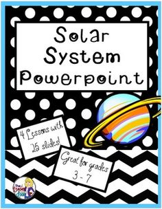 Looking for a complete set of PowerPoint lessons about the solar system? This is it! This set of four Solar System PowerPoint lessons will help you teach the basic concepts of space. It includes 4 big lessons with a total of 25 slides. Eye catching photos will engage your students! Suggested grades are 3 - 7. (TpT Resource)