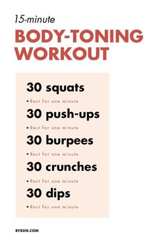Lose fat fast - This Workout Will Tone Your Body in Just 3 Weeks - Do this simple 2 minute ritual to lose 1 pound of belly fat every 72 hours Pilates Workout, Fitness Workouts, 15 Min Workout, Toning Workouts, At Home Workouts, Fitness Tips, Health Fitness, Workout Diet, 1 Week Workout