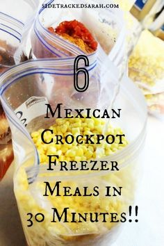 Free Printable with Recipes & Instructions on how to make these meals for your freezer in only 30 minutes!