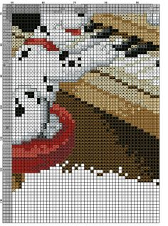 Dalmatian Dogs Cross Stitch Pattern #3