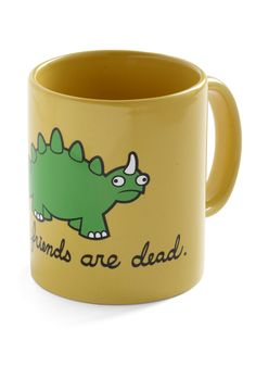 Cry-ceratops Mug - Yellow, Green, Black, Print with Animals, Exclusives, Eco-Friendly, Best Seller, Best Seller, Top Rated