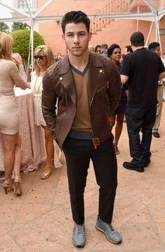 Nick Jonas, smoldering.