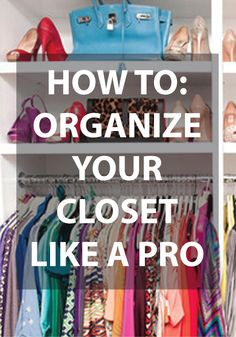 Closet organisation tips Organize Life, How To Organize Your Closet, Ideas De Closets, Closet Ideas, Organizar Closets, Armoire Ikea, Ideas Para Organizar, Master Closet, Huge Closet