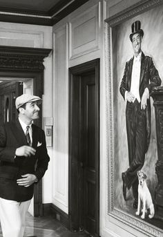 The Artist...Portrait on wall shows Uggie !!!    Incredible Film.
