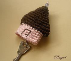Crochet house keychain