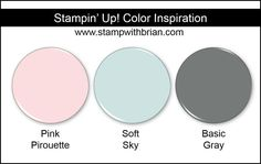 Stampin' Up! Color Inspiration: Pink Pirouette, Soft Sky, Basic Gray