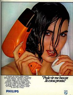 1980 Ad - Philips hair dryer HP4118 by Gugue, via Flickr